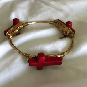 Red cross Bourbon and Bowties bracelet
